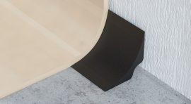 Profilplast Hohlkehl Profil Antracit 25mmx25mm/2.5m 42224-0112