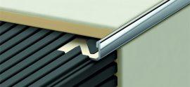 Profilplast Szögletes Élvédő Inox 10mm/2.5m 45567-2510