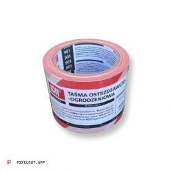Jelzőszalag Piros-Fehér 90m