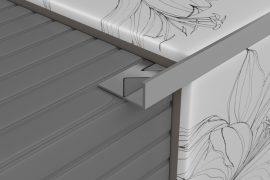 Profilplast Szögletes Aluminium Élvédő Natúr 22,5mm/2.5m 45128-2501