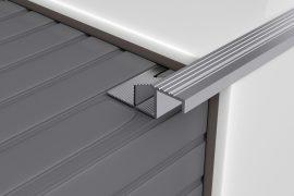 Profilplast Lépcsőélvédő Aluminium Beépíthető Ezüst 8mm/2.5m 45212-2502