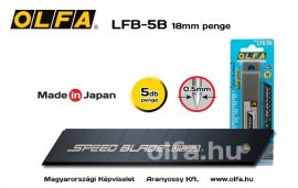 Olfa LFB-5B Késpenge 18mm